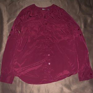 NY&Co Burgundy blouse